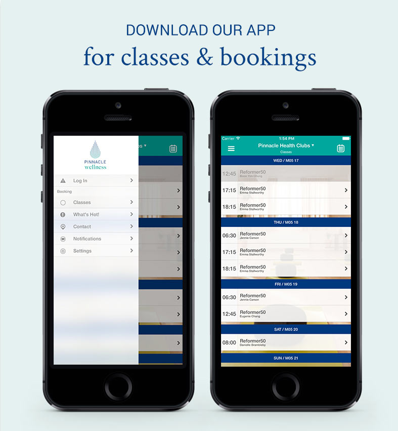 Download our app for classes and bookings